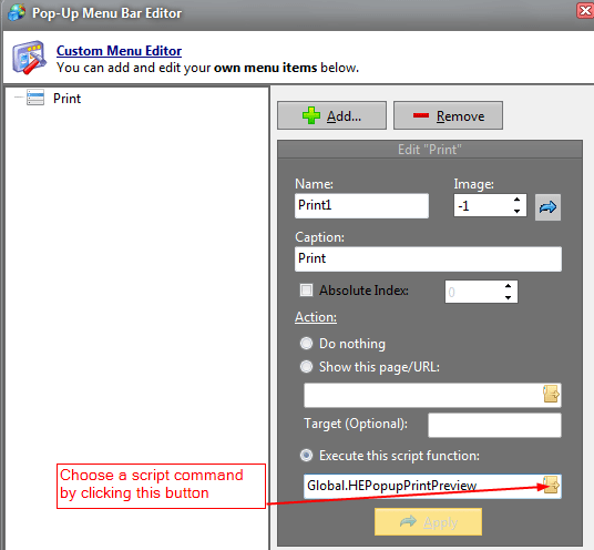 Working with Pop-up Windows