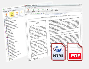Built-in PDF and HTML viewer